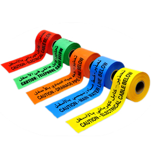 CABLE WARNING TAPE AND TILES